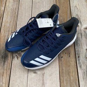 Adidas | Icon Bounce Spike Cleats Navy White 10